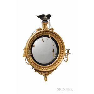 Small Gilt-gesso Girandole Mirror