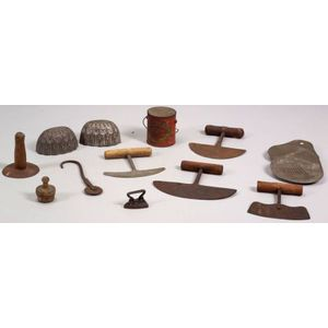 Group of Thirteen Assorted Early Kitchen Items