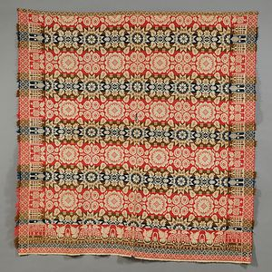 Tied Biederwand Coverlet