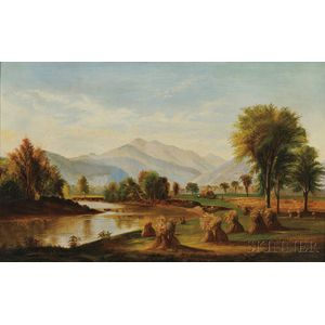 School of Benjamin Champney (American, 1817-1907)    A North Conway Meadow