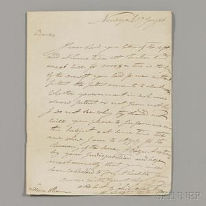 Astor, John Jacob (1763-1848) Autograph Letter Signed, New York, 17 January 1816.