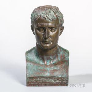 After Antonio Canova (Italian, 1757-1822)       Bronze Bust of Napoleon