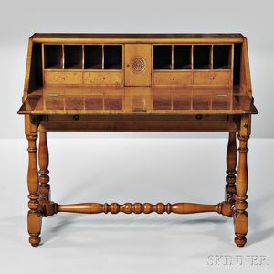 William and Mary-style Maple Desk on Frame