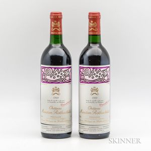 Chateau Mouton Rothschild 1988, 2 bottles