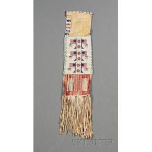 Central Plains Beaded Hide Pipe Bag