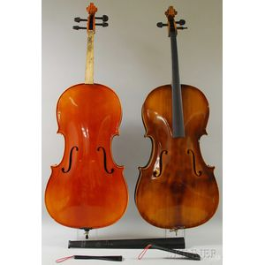 Two Modern Violoncellos, Mittenwald, c. 1975