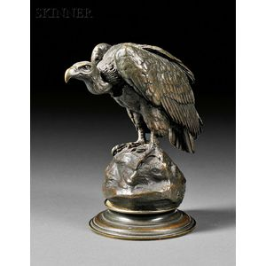Antoine-Louis Barye (French, 1796-1875)      Vautour enveloppé dans ses ailes [Vulture Wrapped in its Wings]
