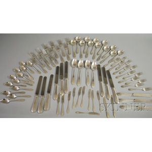 Tiffany Partial Sterling Silver Faneuil Pattern Flatware Service