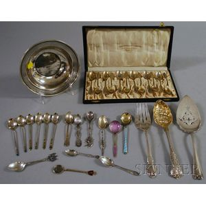 Group of Silver and Silver-plated Flatware and Other Items