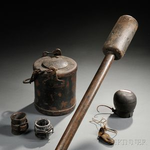 Group of Civil War Artillery Objects