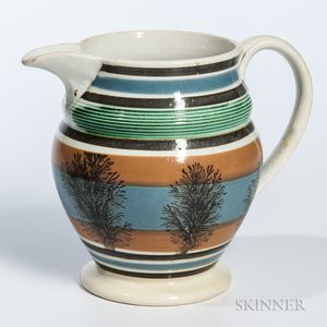 Mocha-decorated Pearlware Pitcher