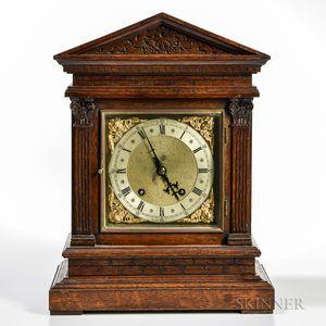 Winterhalder & Hofmeier German Oak Shelf Clock
