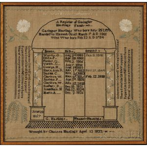 Needlework Family Record Sampler