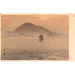 Hiroshi Yoshida (1876-1950) Woodblock Print, Evening after Rain