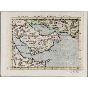 Arabian Peninsula. Girolamo Ruscelli (1604-1566) Arabia Felice Nuova Tavola.