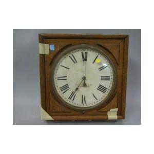 Blodgett Bros. & Co. Oak Wall Timepiece.