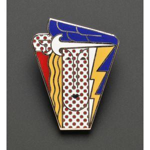 """Artist-Designed Pop Art """"Modern Head"""" Pendant/Brooch, Roy Lichtenstein"""