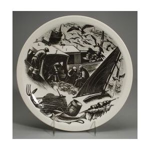 Five Wedgwood Claire Leighton Industrial Series Plates