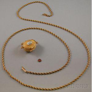 14kt Gold Miniature Nantucket Basket Charm