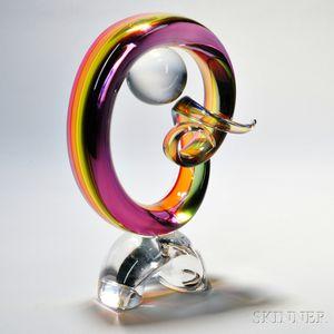 Archimede Seguso Art Glass Sculpture