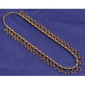 Archaeological Style 18kt Gold and Amethyst Fringe Necklace, Castellani