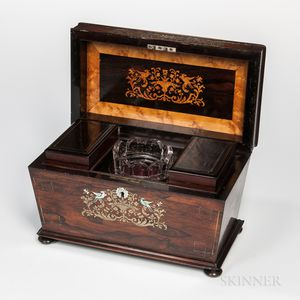 William IV Rosewood Sarcophagus-form Tea Caddy