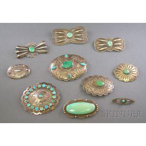 Ten Southwest Silver Pins