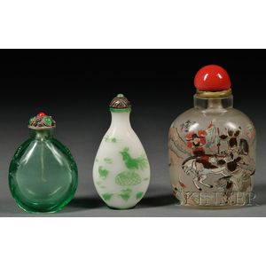 Three Glass Snuff Bottles