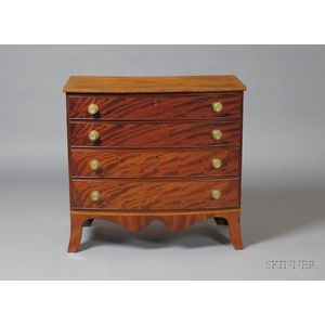 Federal Mahogany Inlaid Bowfront Chest of Drawers