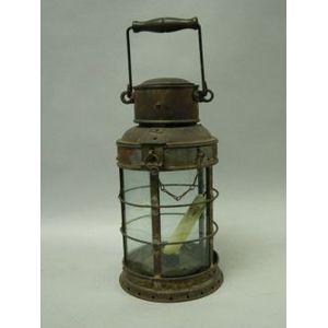 Cylindrical Tinned Iron Lantern.