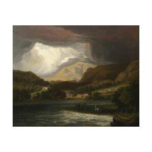 American School, 19th Century  Landscape Along the Hudson River.