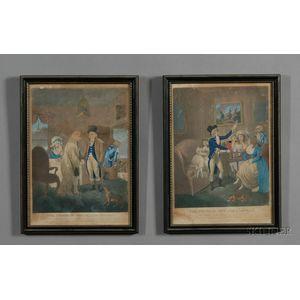 "Series of Four Framed ""Prodigal Son"" Engravings"