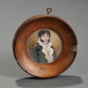 European School, 19th Century      Miniature Portrait of a Man.