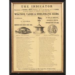 Printed Advertisement for Cushing & White of Waltham, Massachusetts