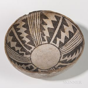 Anasazi Painted Pottery Bowl