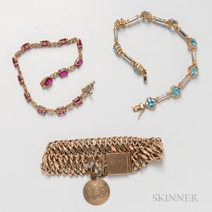 Three Gold Bracelets