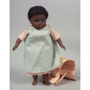 Black Kestner Barefoot All-Bisque Girl Doll