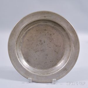 Pewter Deep Plate