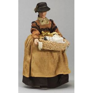 Composition Lady Doll Candy Container