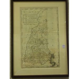 Framed Map of The State of New Hampshire