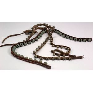 Three Harness Leather Straps of Sleigh Bells