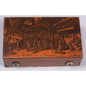 Musical Tinplate Snuff Box