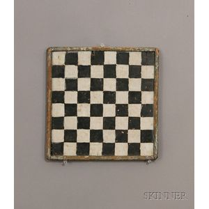 Small Painted Wooden Checkerboard