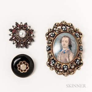 Three Antique Brooches