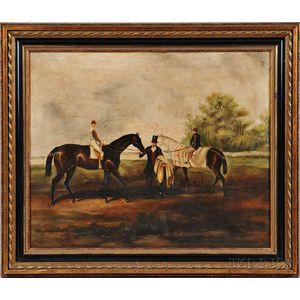 British School, 19th Century      Gentleman with Two Race Horses