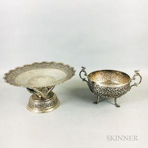 Two Silver Vessels