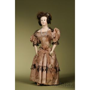 French Papier-mache Lady