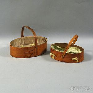 Two Shaker Oval Baskets