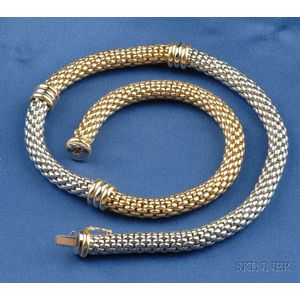 18kt Bicolor Gold Necklace, Italy