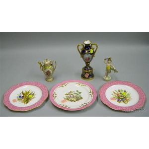 Six of Assorted Decorative Porcelain Table Items